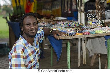 curiosità, commesso, africano