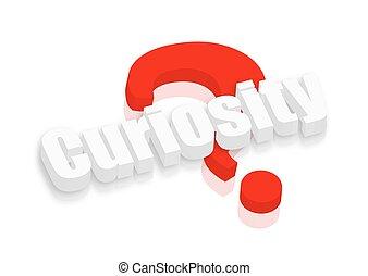 Curiosity 3d Text