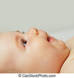 Curiosity baby - face closeup
