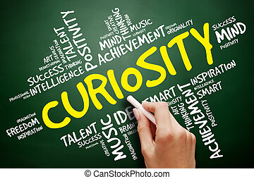Curiosity word cloud, business concept