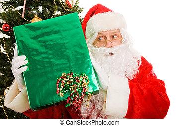 Curious Christmas Santa