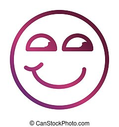 curious funny smiley emoticon face expression gradient style icon
