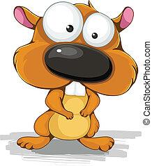 color vector illustration cartoon hamster