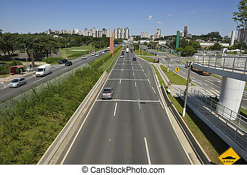 Curitiba transit - Photography of cars in the highway in the...