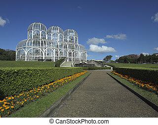 curitiba/br, botaniczny, publiczny ogród
