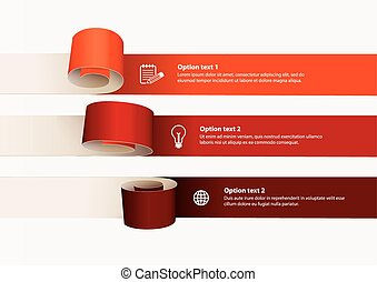 Curl of colored paper. Vector illustration can be used for...