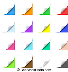 Curled Corner - Curled Paper Corners with Multicolor...
