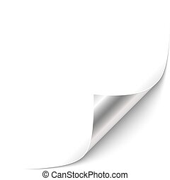 Curled Corner - Curled Black Paper Corner with Silver Back...