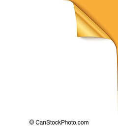 Curled corner vector illustration, isolated paper curl