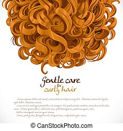 Curled hair background
