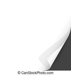 Curled Paper Corner with Dark Background