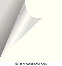 Curled paper corner