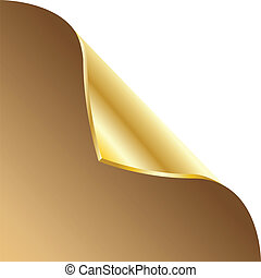 Curled paper corners. Vector illustration.