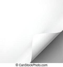 Curled white paper corner mockup template.