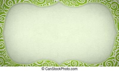 curles pattern frame seamless loop