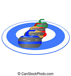 Curling-1 - Summer kinds of sports. Illustration on a sports...