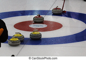 Curling - Aiming at a certain target