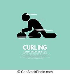 Curling. - Curling Vector Illustration.
