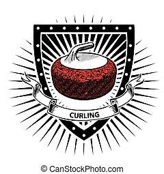 curling, escudo