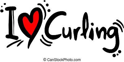 Curling love - Creative design of curling love
