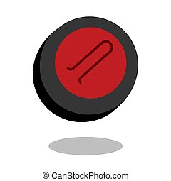 Curling play sport stone logo vector line 3d game icon isolated