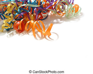 Curling Ribbons - A pile of colored curling ribbons in the...
