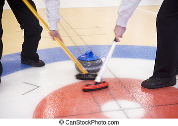 Curling Situation - Close up of a Curling situation
