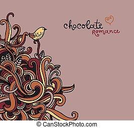 curls., 背景, ベクトル, 抽象的
