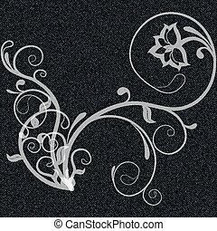 curls on black