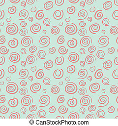 Curls seamless vector pattern in old-fashioned style