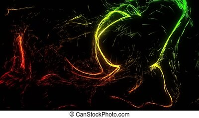curly and harmonically moving particle trails. suitable for...
