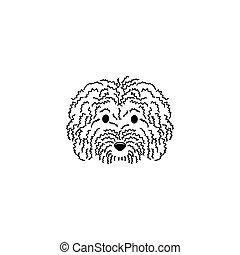 Curly dog vector illustration