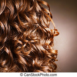 Curly Hair. Hairdressing. Wave .Natural Hair