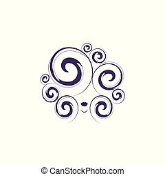 Curly hair vector illustration