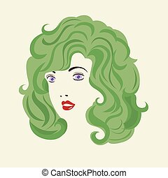 Curly Hair Woman HairStyle.
