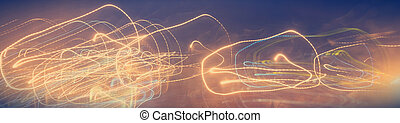 Curly light stripe, abstract background. Beautiful abstract light background, electricity flash.