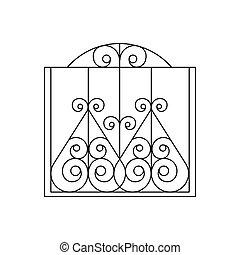 Curly Metal Lattice Fencing Design