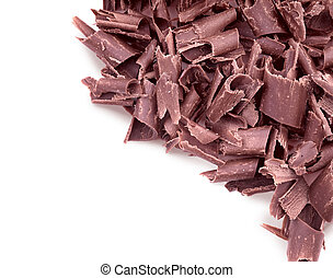 Curly pieces of milk chocolate