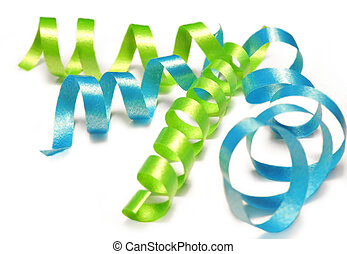 Curly ribbon isolated