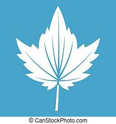 Currant tree leaf icon white
