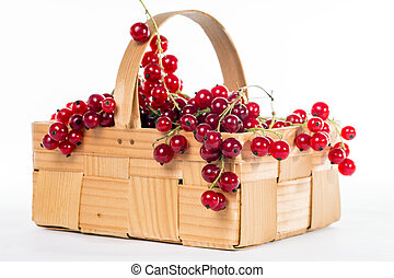 Currants - red currants in a basket