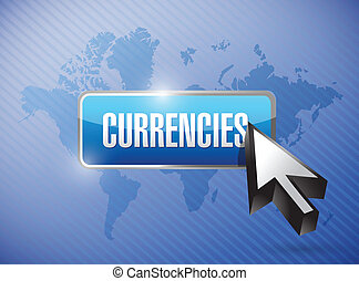 currencies button illustration design