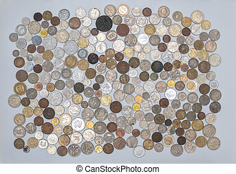 Currency - A collection of old coins from around the world.