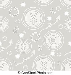 Currency business seamless pattern