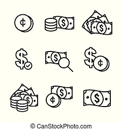 Currency Circulation / money exchange rate icon with dollar bill