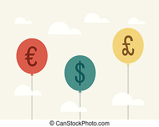 Currency balloon stock vector