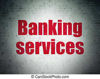 Currency concept: Banking Services on Digital Data Paper background