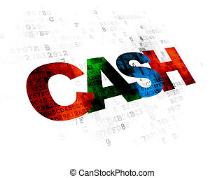 Currency concept: Cash on Digital background