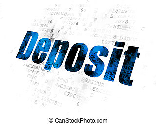 Currency concept: Deposit on Digital background