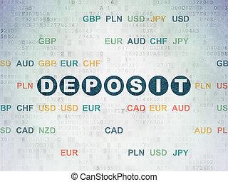 Currency concept: Deposit on Digital Data Paper background